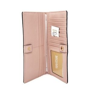 Michael Kors Bags - Michael Kors Pink Tri Fold Wallet